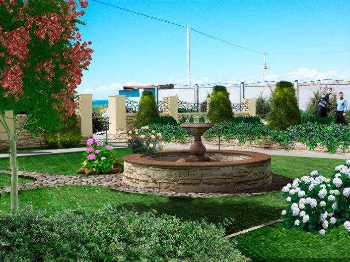 Благоустройство ландшафтный дизайн Дом в Севастополе