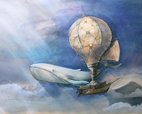 картины на заказ Крым Симферополь Ялта Москва кит рыба воздушный шар