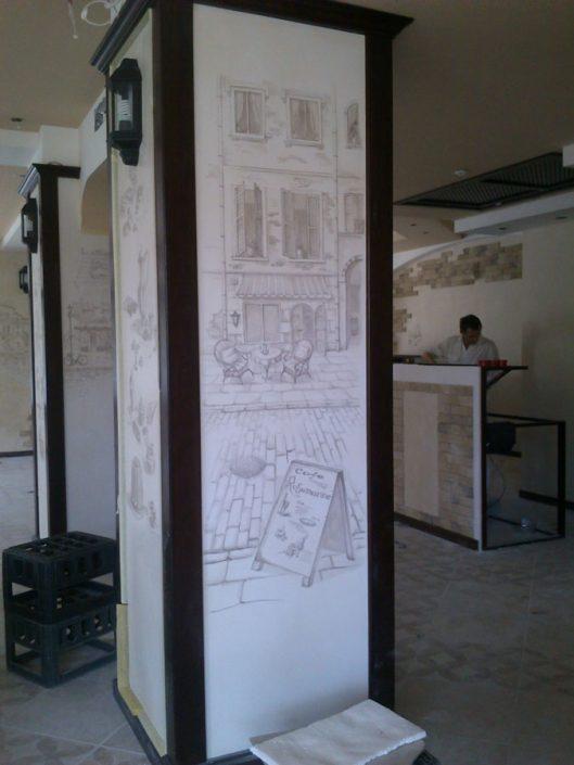 интерьер роспись стен Катя Сухоцкая